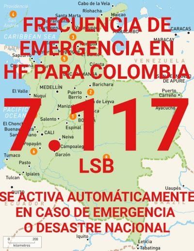 Frecuencia Emergencia HF para Colombia